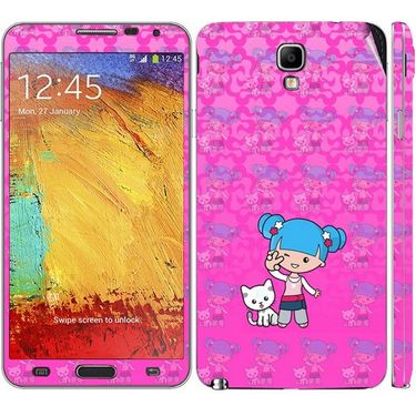 Snooky 39519 Digital Print Mobile Skin Sticker For Samsung Galaxy Note 3 Neo - Pink