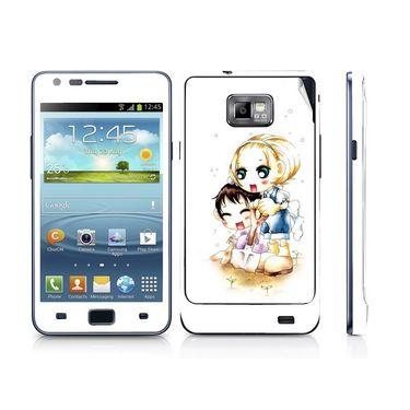 Snooky 39529 Digital Print Mobile Skin Sticker For Samsung Galaxy S2 I9100 - White
