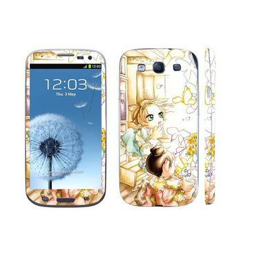 Snooky 39533 Digital Print Mobile Skin Sticker For Samsung Galaxy S3 I9300 - White