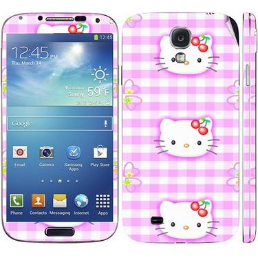 Snooky 39548 Digital Print Mobile Skin Sticker For Samsung Galaxy S4 I9500 - Pink