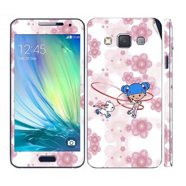 Snooky 39568 Digital Print Mobile Skin Sticker For Samsung Galaxy A3 - White
