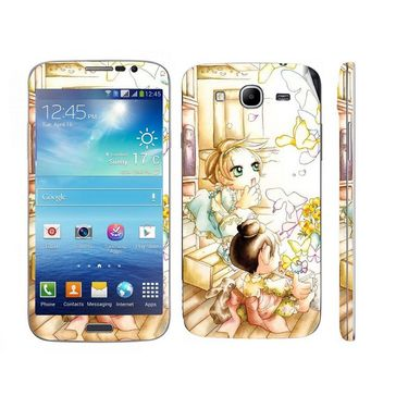 Snooky 39593 Digital Print Mobile Skin Sticker For Samsung Galaxy Mega 5.8 Gt 18281 - White