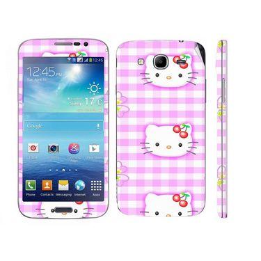 Snooky 39596 Digital Print Mobile Skin Sticker For Samsung Galaxy Mega 5.8 Gt 18281 - Pink