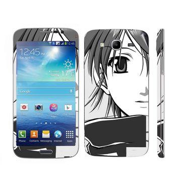 Snooky 39602 Digital Print Mobile Skin Sticker For Samsung Galaxy Mega 5.8 Gt 18281 - Grey