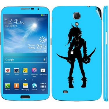 Snooky 39610 Digital Print Mobile Skin Sticker For Samsung Galaxy Mega 6.3 - Blue