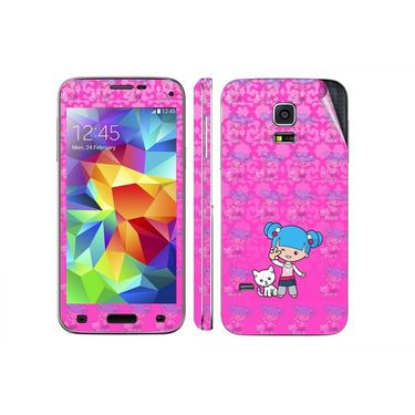 Snooky 39627 Digital Print Mobile Skin Sticker For Samsung Galaxy S5 - Pink