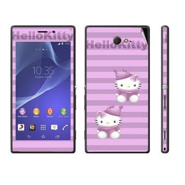 Snooky 39679 Digital Print Mobile Skin Sticker For Sony Xperia M2 Dual - Purple