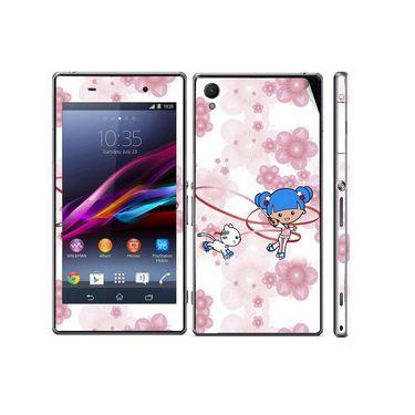 Snooky 39748 Digital Print Mobile Skin Sticker For Sony Xperia Z1 - White