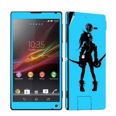 Snooky 39778 Digital Print Mobile Skin Sticker For Sony Xperia ZL - Blue