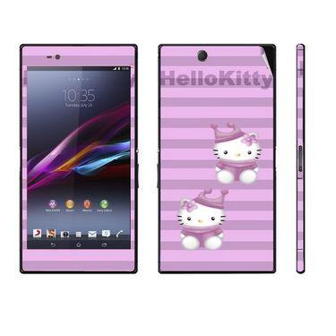 Snooky 39787 Digital Print Mobile Skin Sticker For Sony Xperia Z Ultra - Purple