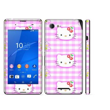 Snooky 39800 Digital Print Mobile Skin Sticker For Sony Xperia E3 Dual - Pink