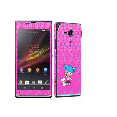 Snooky 39831 Digital Print Mobile Skin Sticker For Sony Xperia Sp M35h C5302 - Pink