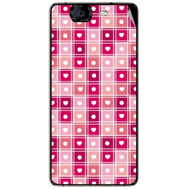 Snooky 40467 Digital Print Mobile Skin Sticker For Micromax Canvas Knight A350 - Pink
