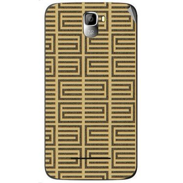 Snooky 40560 Digital Print Mobile Skin Sticker For Micromax Canvas Entice A105 - Brown