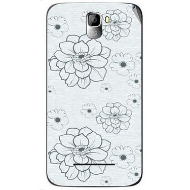 Snooky 40567 Digital Print Mobile Skin Sticker For Micromax Canvas Entice A105 - Grey