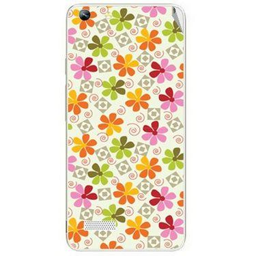 Snooky 40754 Digital Print Mobile Skin Sticker For Micromax Canvas Hue AQ5000 - White