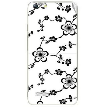 Snooky 40762 Digital Print Mobile Skin Sticker For Micromax Canvas Hue AQ5000 - White