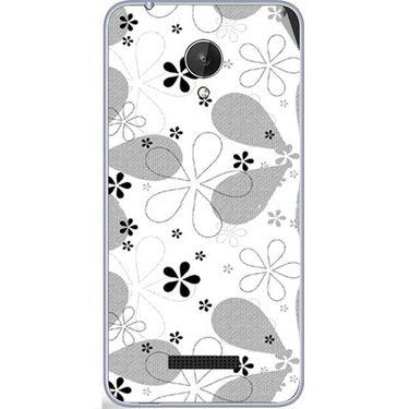 Snooky 40792 Digital Print Mobile Skin Sticker For Micromax Canvas Spark Q380 - White