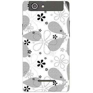Snooky 40848 Digital Print Mobile Skin Sticker For XOLO A500S - White