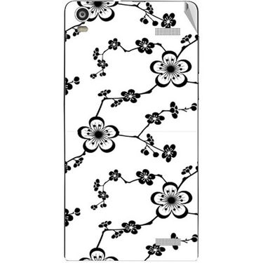 Snooky 40916 Digital Print Mobile Skin Sticker For XOLO A1000S - White