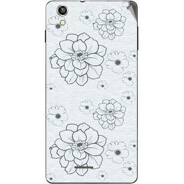 Snooky 40931 Digital Print Mobile Skin Sticker For XOLO A1010 - Grey