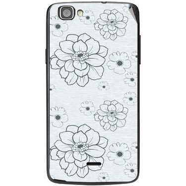 Snooky 40973 Digital Print Mobile Skin Sticker For XOLO One - Grey