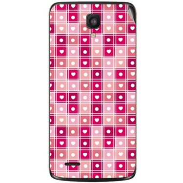 Snooky 41027 Digital Print Mobile Skin Sticker For XOLO Q700 - Pink