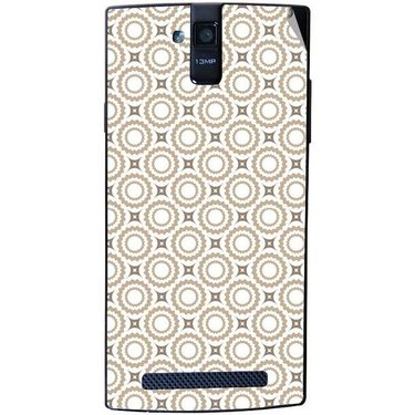 Snooky 41145 Digital Print Mobile Skin Sticker For XOLO Q2000 - Brown