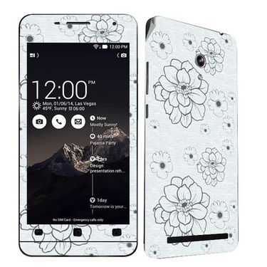 Snooky 41225 Digital Print Mobile Skin Sticker For Asus Zenfone 6 A600CG/A601CG - Grey