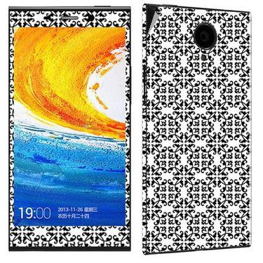 Snooky 41270 Digital Print Mobile Skin Sticker For Gionee Elife E7 - White