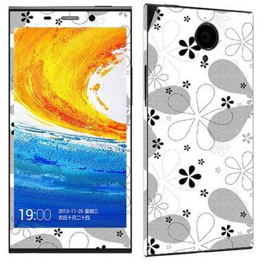 Snooky 41282 Digital Print Mobile Skin Sticker For Gionee Elife E7 - White