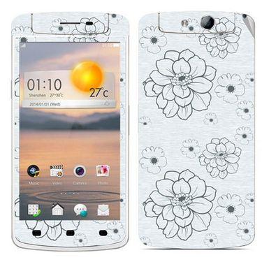 Snooky 41323 Digital Print Mobile Skin Sticker For OPPO N1 Mini - Grey