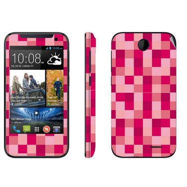 Snooky 41375 Digital Print Mobile Skin Sticker For HTC Desire 310 - Purple