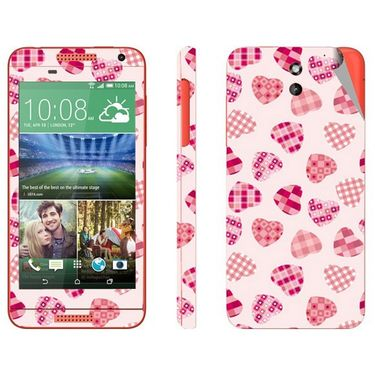 Snooky 41390 Digital Print Mobile Skin Sticker For HTC Desire 610 - White