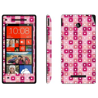 Snooky 41433 Digital Print Mobile Skin Sticker For HTC 8X C620E - Pink