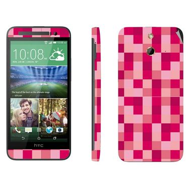 Snooky 41473 Digital Print Mobile Skin Sticker For HTC One E8 - Purple