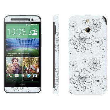 Snooky 41477 Digital Print Mobile Skin Sticker For HTC One E8 - Grey