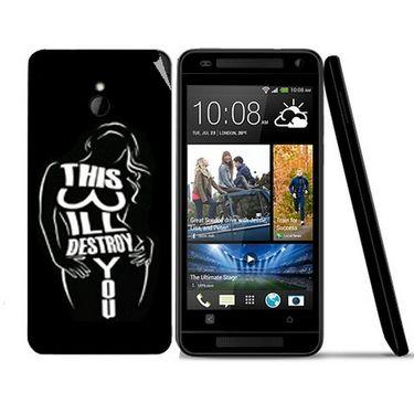 Snooky 41493 Digital Print Mobile Skin Sticker For HTC One mini - Black