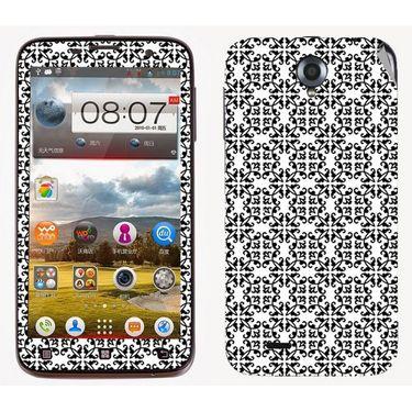 Snooky 41564 Digital Print Mobile Skin Sticker For Lenovo A850 - White