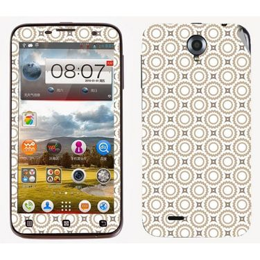 Snooky 41565 Digital Print Mobile Skin Sticker For Lenovo A850 - Brown