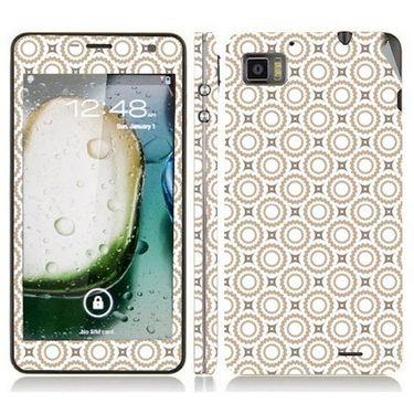 Snooky 41607 Digital Print Mobile Skin Sticker For Lenovo K860 - Brown