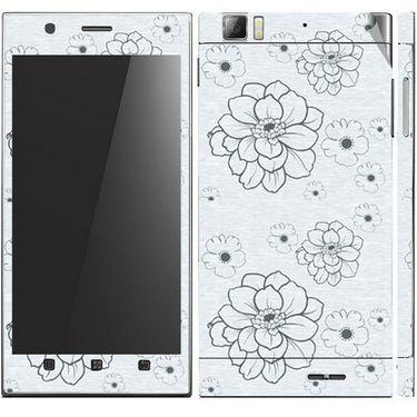 Snooky 41631 Digital Print Mobile Skin Sticker For Lenovo K900 - Grey