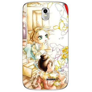Snooky 41635 Digital Print Mobile Skin Sticker For Lava Iris 402 Plus - White