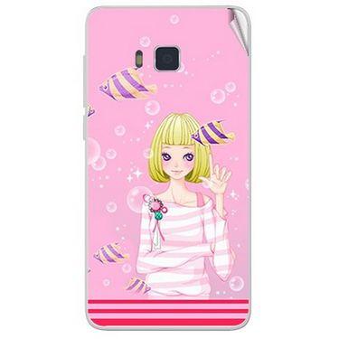 Snooky 41646 Digital Print Mobile Skin Sticker For Lava Iris 406Q - Pink