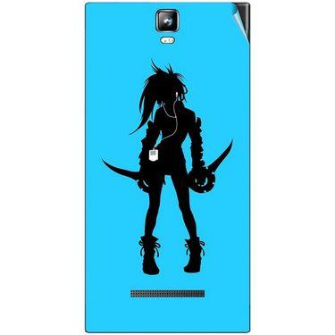 Snooky 41700 Digital Print Mobile Skin Sticker For Lava Iris 504Q Plus - Blue