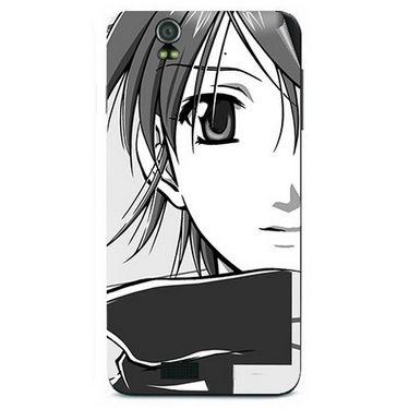 Snooky 41725 Digital Print Mobile Skin Sticker For Lava Iris selfie 50 - Grey