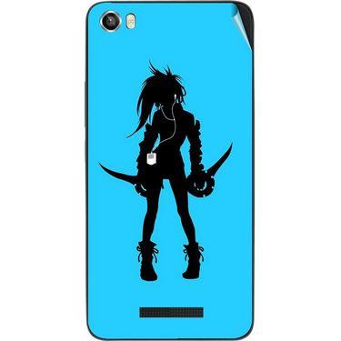 Snooky 41736 Digital Print Mobile Skin Sticker For Lava Iris X8 - Blue