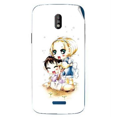Snooky 41752 Digital Print Mobile Skin Sticker For Lava Iris 450 - White