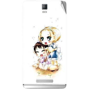 Snooky 41824 Digital Print Mobile Skin Sticker For Lava Iris Fuel 50 - White