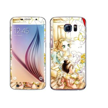 Snooky 41851 Digital Print Mobile Skin Sticker For Samsung Galaxy S6 - White